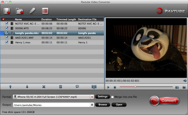 Pavtube Video Converter for Mac full screenshot