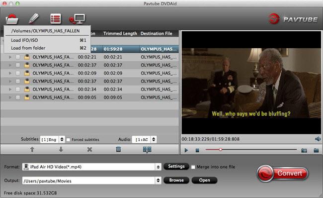 Pavtube DVDAid for Mac full screenshot