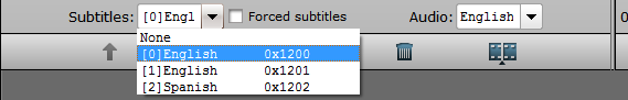 Select desired subtitles or enable forced subtitles
