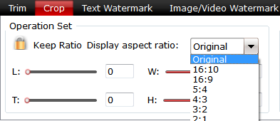 Adjust video output aspect ratio
