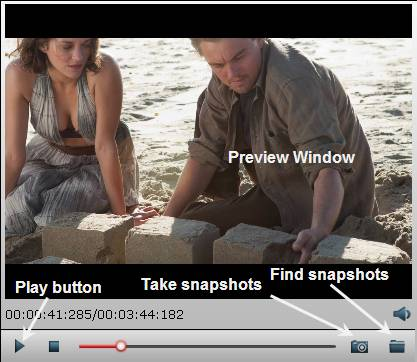 Preview Blu-ray movies and take snapshots