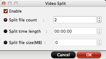 Split large QuickTime MOV files