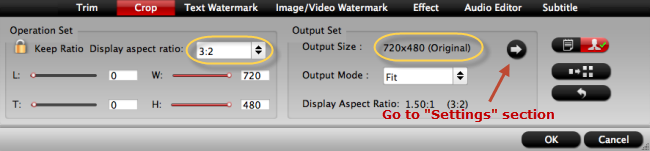 Change output video aspect ratio