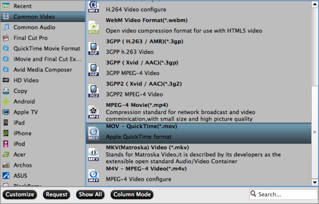 output DVD to popular file formats