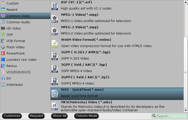 mkv as output format