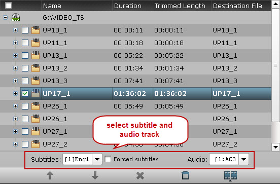 select subtitles audio track