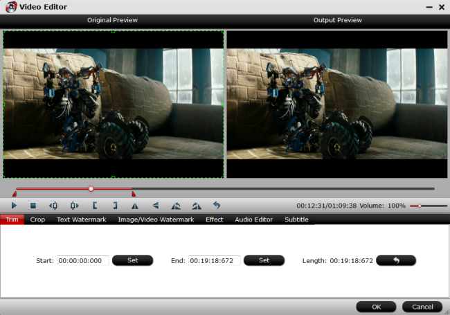 Trim unwanted parts from video file with ac3 codec