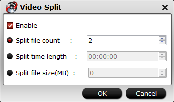 Split video file into smaller parts