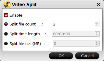 split MPEG file into smaller parts