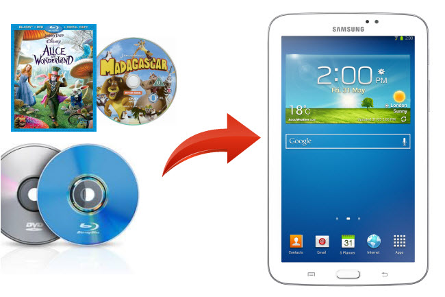 watch blu-ray dvd on galaxy tab 3