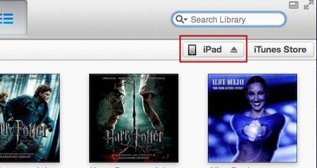 itunes choose ipad option