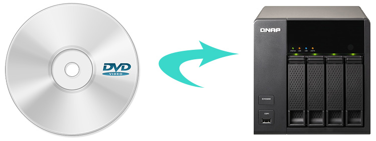 dvd to qnap ts 469l nas
