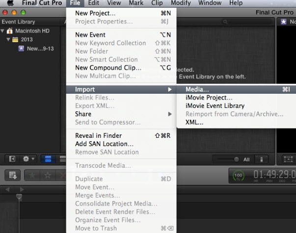 load video to final cut pro