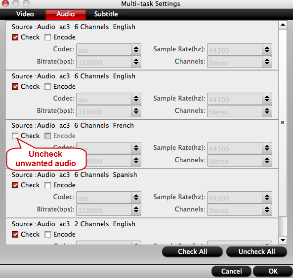adjust multi-task settings