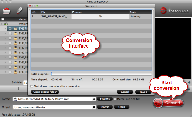 conversion from blu-ray to multi-track mp4 mov