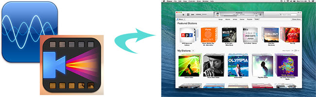 video audio files to itunes