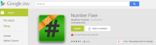 download fix number for android