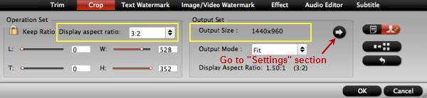 hd video converter mac crop settings