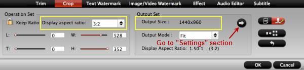 hd video converter mac crop settings