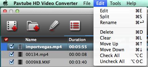 hd video converter mac edit