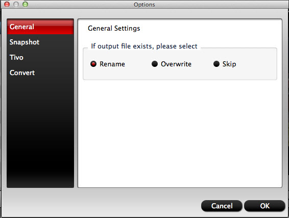 hd video converter mac general settings