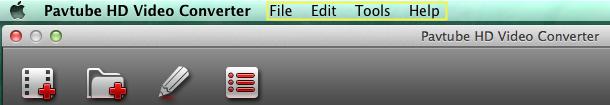 hd video converter mac menu bar