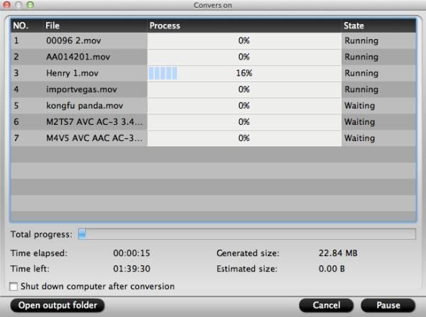 hd video converter mac start conversion