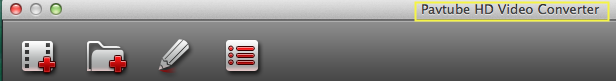 hd video converter mac title bar