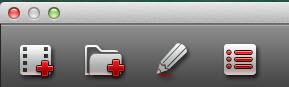 hd video converter mac tool bar