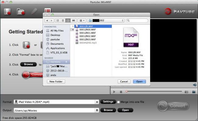imixmxf import panasonic video
