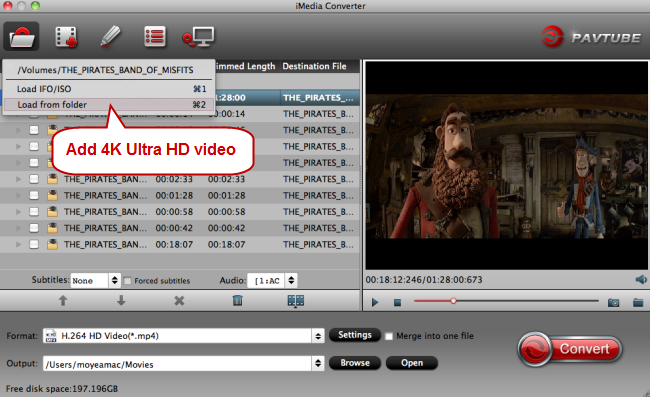 load 4k ultra hd video