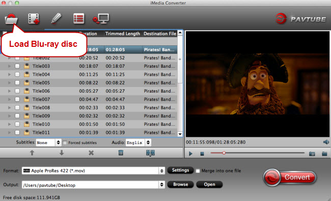 load blu-ray disc to imovie