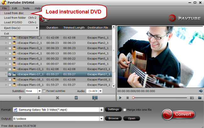 load instructional dvd