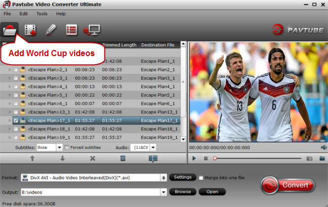 load world cup videos