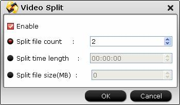 Split video file