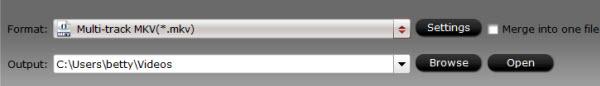 mxf multimixer output folder