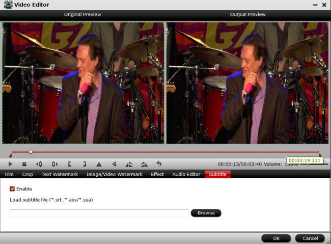 mxf multimixer subtitle