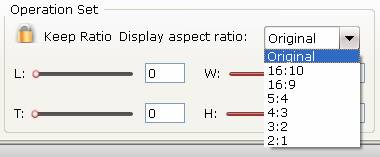 Adjust output video aspect ratio