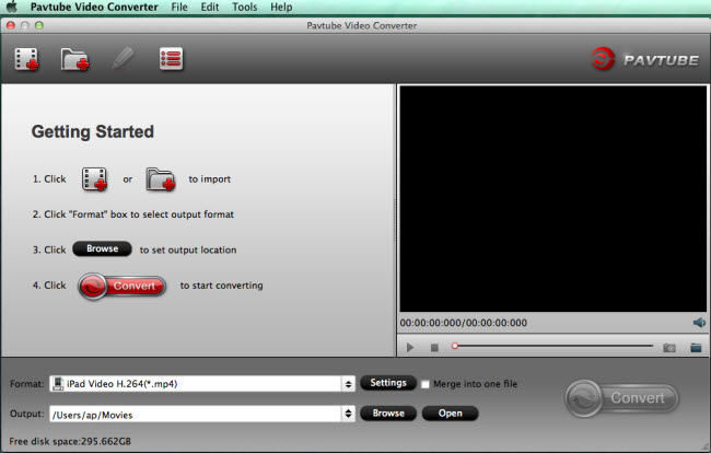video converter mac main interface