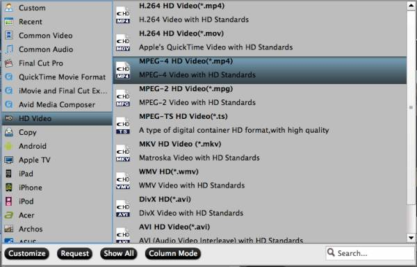 Output MPEG-4 HD