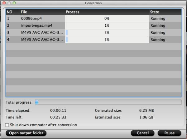 video converter mac start conversion