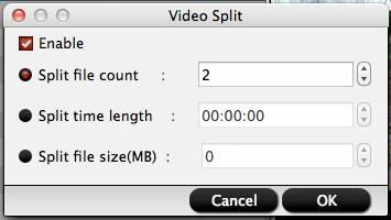 Split large QuickTime MOV file