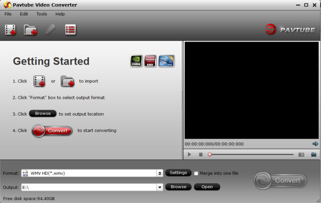 video converter main interface