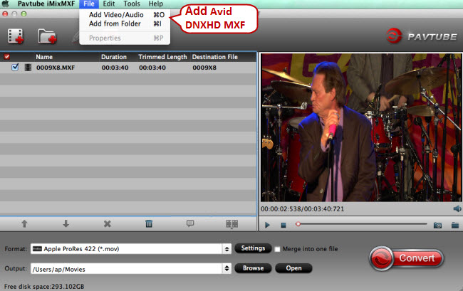add avid dnxhd mxf to mac mxf to fcp x converter