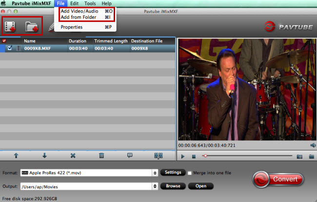 add canon c500 pl 4k mxf videos