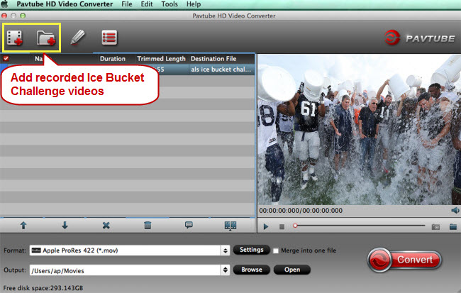 add recorded ice bucket challenge videos to video converter