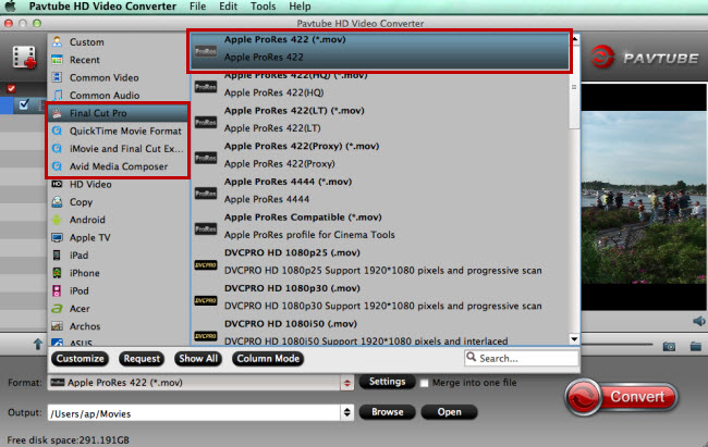 choose fcp imovie premiere avid supported video format