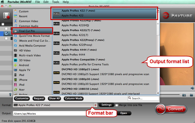 choose fcp x supported format apple prores