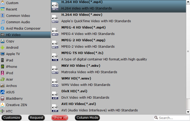 choose proper video format for hdtv device