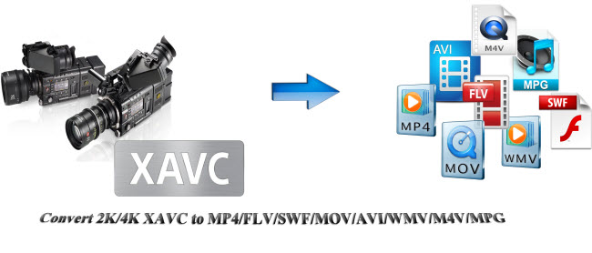 convert 2k 4k xavc to mp4 mov m4v avi mpg wmv flv